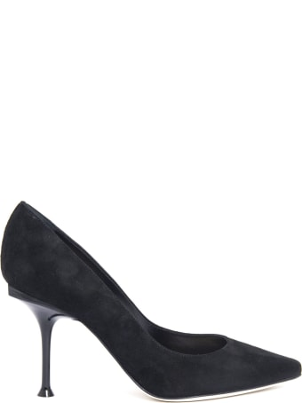 Sergio Rossi Black Suede Pointed-toe Decolletè