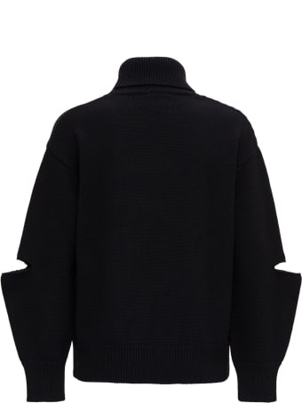Patou High Neck Sweater With Front Logo
