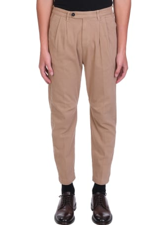 Massimo Alba Pants In Leather Color Cotton