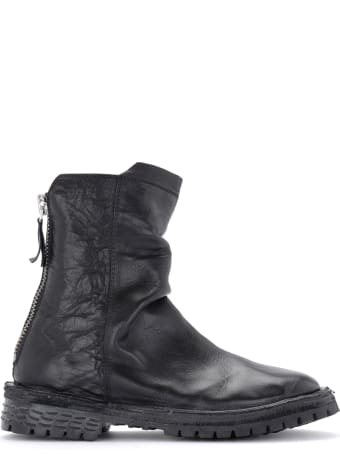 Moma Bufalo Woman's Ankle Boot In Black Leather