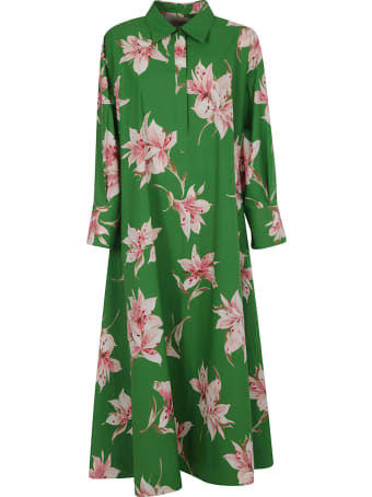 Valentino Floral Print Long Dress