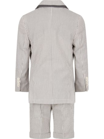 Stella McCartney Kids Grey And White Suit For Boy
