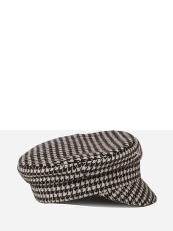 Ruslan Baginskiy Baker Boy Hat With Pied-de-poule Motif