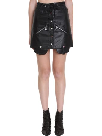 TPN3 Skirt In Black Faux Leather