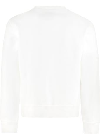 Maison Margiela Logo Detail Cotton Sweatshirt