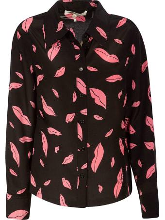 Diane Von Furstenberg Falling Lips Shirt