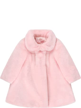 Blumarine Pink Faux-fur For Babygirl