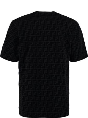Fendi Logo Cotton T-shirt
