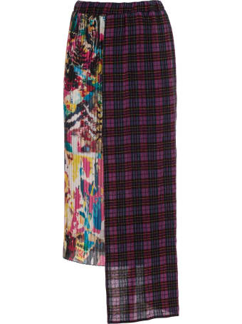 Ultrachic Skirt Pencil Plisse Double Fantasy Elastic Waist