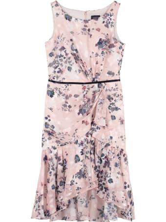 Marchesa Notte Floral Print Dress