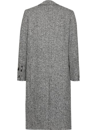 MSGM Padded Double-breast Peacoat