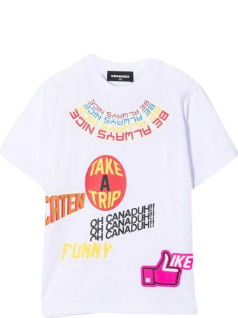 Dsquared2 White T-shirt Teen