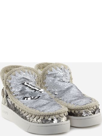 Mou Summer Eskimo Ankle Boots With All-over Sequins