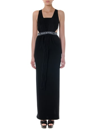 Frankie Morello Black Textile Long Dress