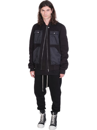 DRKSHDW Cargo Flight Bomber In Black Cotton