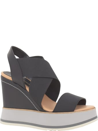 Paloma Barceló Paloma Barcelo Leather Wedge Sandals