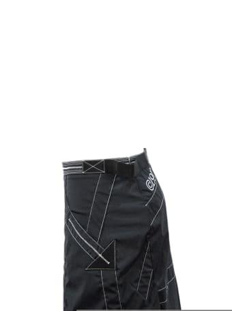 Off-White Nylon Mid-length Skirt In Black