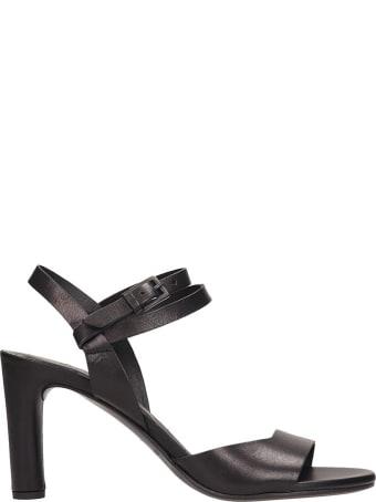 Roberto del Carlo Black Leather Sandals