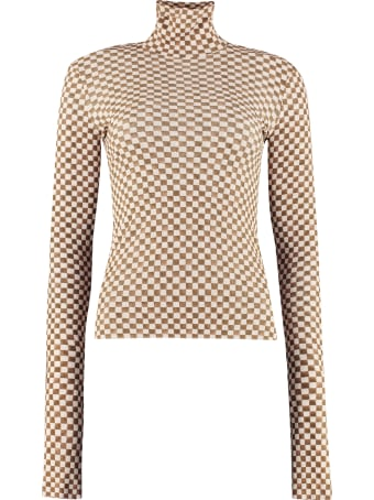 Nanushka Harri Printed Long-sleeve Top