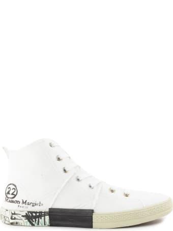 Maison Margiela White Cotton Sneaker