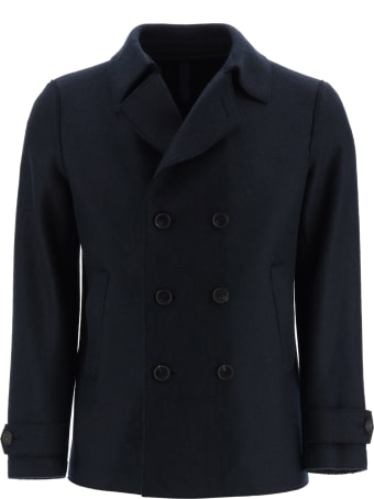 Harris Wharf London Boiled Wool Pea Coat