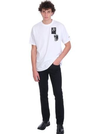 Fred Perry by Raf Simons 100 T-shirt In White Cotton