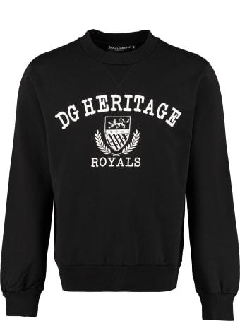 Dolce & Gabbana Cotton Crew-neck Sweatshirt