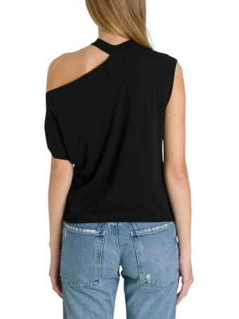 RTA Asymmetric Tee With Cut Out Detail