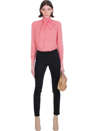 Jacob Lee Blouse In Red Silk