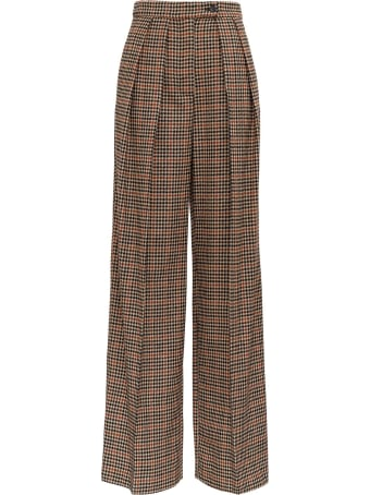 Jucca Check Oversize Trousers