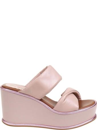 181 Alberto Gozzi 181 Mules In Pink Nappa