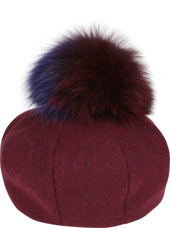 CA4LA Burgundy Wool Blend Hat