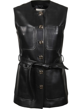 Gucci Tie-waist Sleeveless Jacket