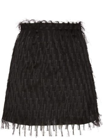 Amotea Baby Mini Skirt In Black Fil Coupe'
