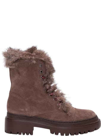 Pollini Shearling Lined Trekking Booties
