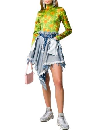 Ben Taverniti Unravel Project Ben Taverniti - Unravel Project Vinta Chaos Dnm Reverse Skirt