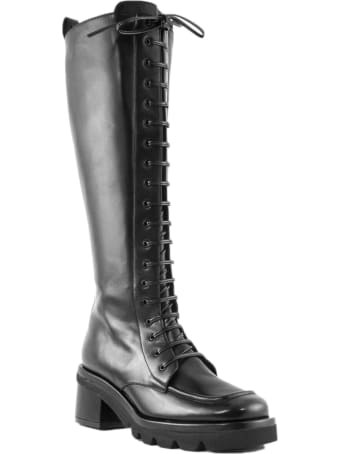 Aldo Castagna Black Leather Boots