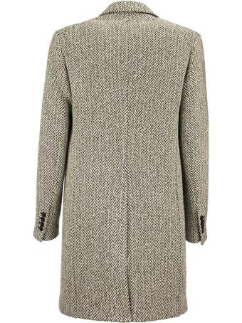 Paltò Agostino Herringbone Wool Coat