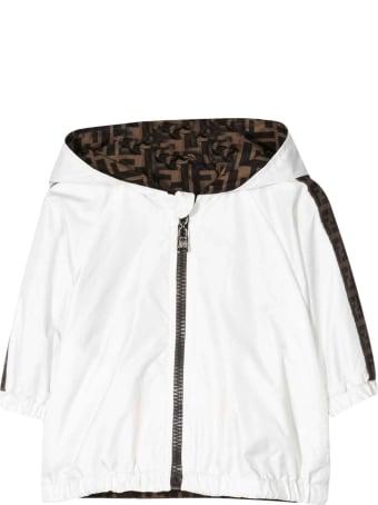 "Fendi White Jacket With ""ff"" Press"