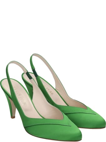 GIA COUTURE Pumps In Green Satin