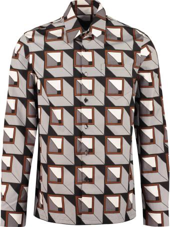 Prada Classic Italian Collar Cotton Shirt