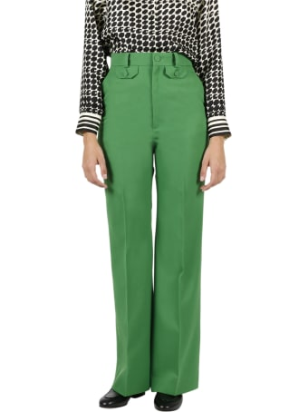 Gucci Flare Pants In Wool Twill
