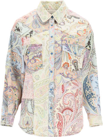 Etro Paisley Patchwork Denim Jacket