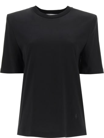 The Attico Bella T-shirt With Shoulder Straps