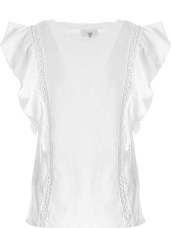 Dondup White Cotton Blouse