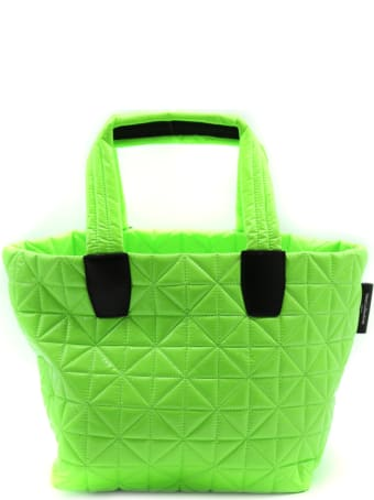 VeeCollective Small Green Vee Tote Bag In Recycled Nylon