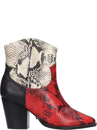Schutz Ankle Boots In Red Leather