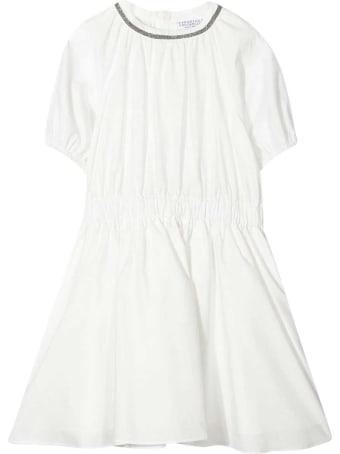 Brunello Cucinelli White Teen Dress