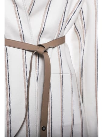Loro Piana Reversible Jacket With Striped Pattern In Cashmere