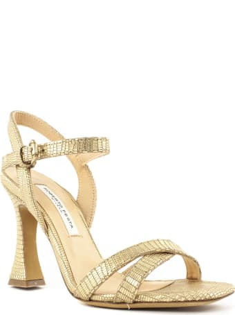 Roberto Festa Gold-tone Leather Fei Sandal